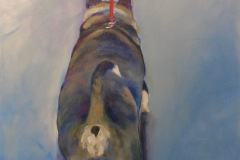"Queenie – 24""x24"" acrylic on canvas"