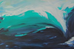 "Memories of the Banzai Pipeline – 48""x30"" acrylic on canvas"